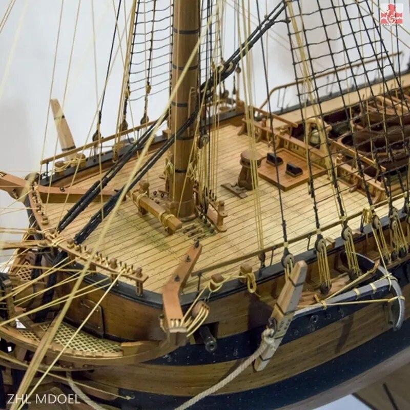 USS Bonhomme Richard Cherry Version With Mast Model Ship Kit