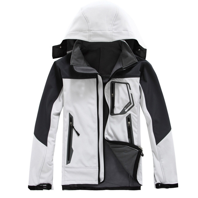 Manufacturers Wholesale Outdoor Sports MEN'S Soft Shell Fleece Jacket Soft Cover Raincoat Jacket Single Layer Left Chest Bag