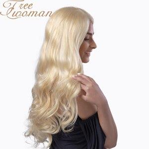 Свободный Женский Золотой волнистый длинный синтетический парик с естественной линией волос для черных/белых женщин Косплей вечерние терм...