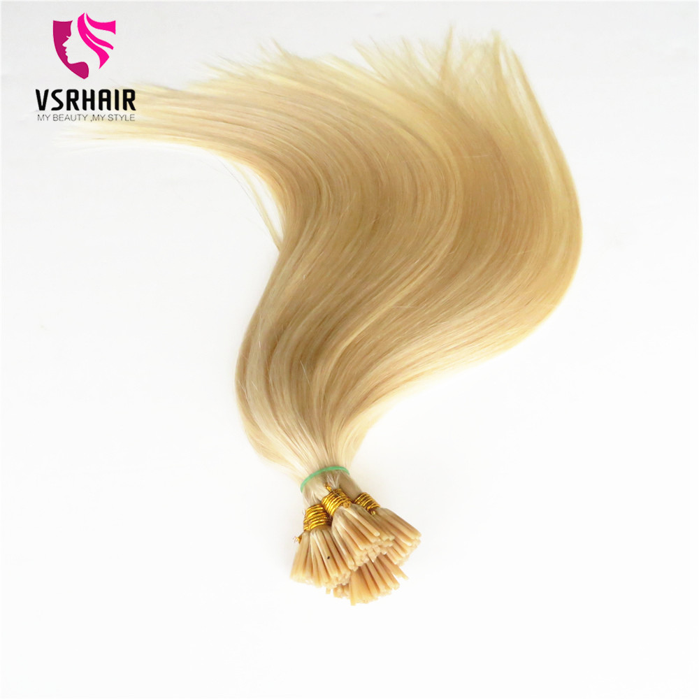 VSR 100% Human Hair Stick  Tips 50 Strands 100 Strands Machine Remy Flat Tip Hair For Salon Especially  Keratin Hair Extension