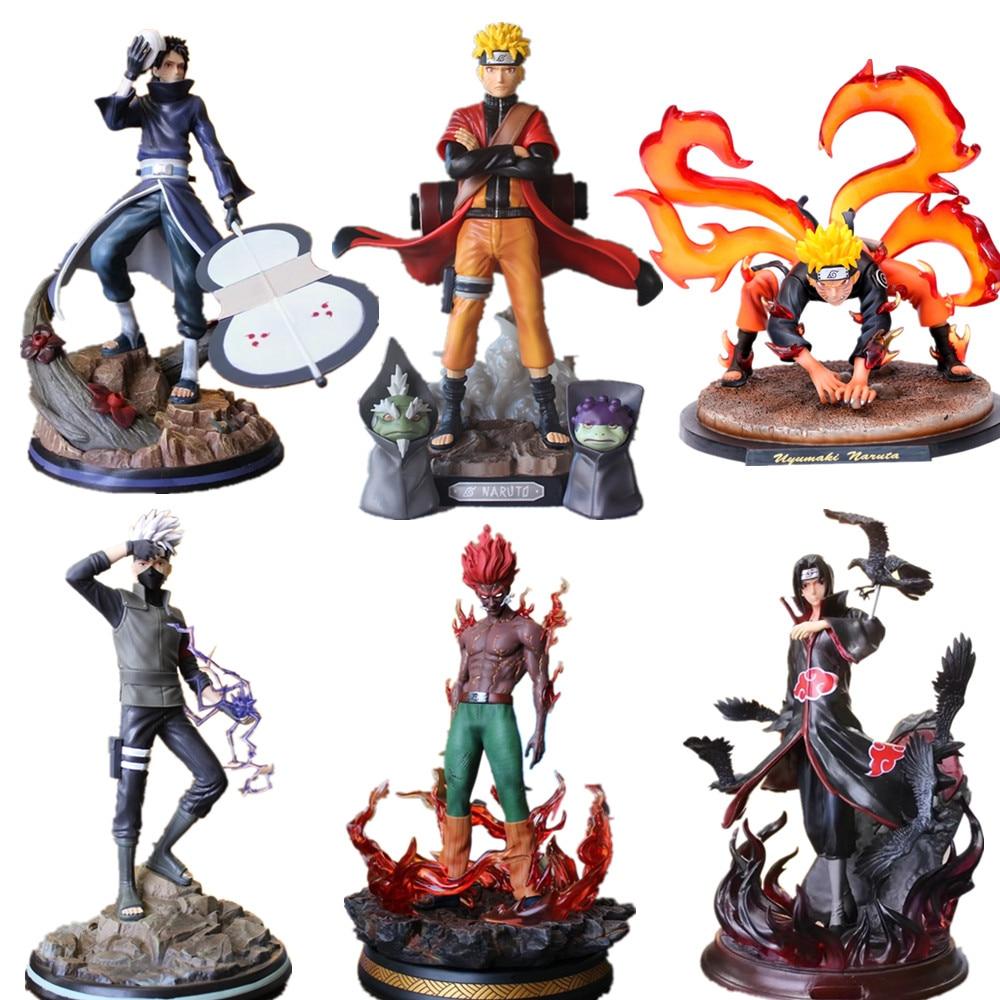 Naruto PVC Action Figures Statue Obito Guy Kakashi Itachi Kyuubi Anime Naruto Shippuden Figurine Uzumaki Naruto Model Toys Gift