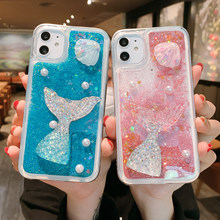 Drijfzand Glitter 3D Mermaid Liquid Case Voor Samsung J2 J4 J6 J7 J8 Core Prime J7 Pro 2018 J5 J7 prime J3 J5 2017 J1 J730 ON5 7(China)