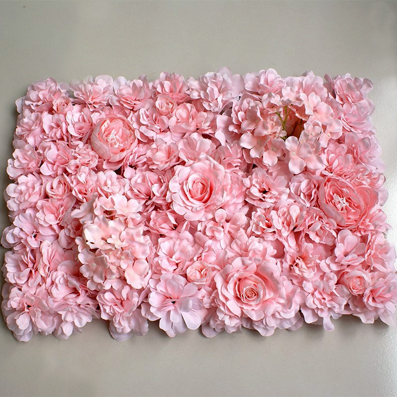 Artificial Flower Arrangement Pink Hydrangea Wall Wedding Decoration Shop Decoration Silk Flower Plant Wall Fake Flower60x40cm title=