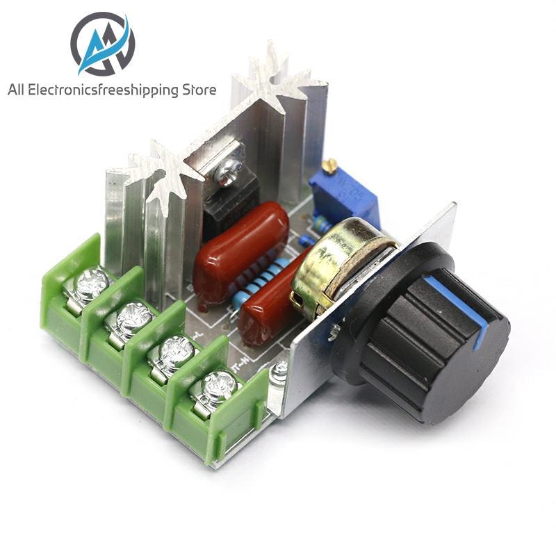 Regulador de tensão da c.a. 220v 2000w scr que escurece o termostato do controlador da velocidade dos dimmers