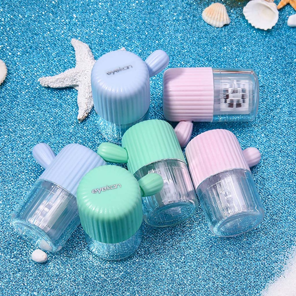 Plastic Contact Lens Cleaner Washer Cleaning Box Practical Contact Lenses Tool (46)
