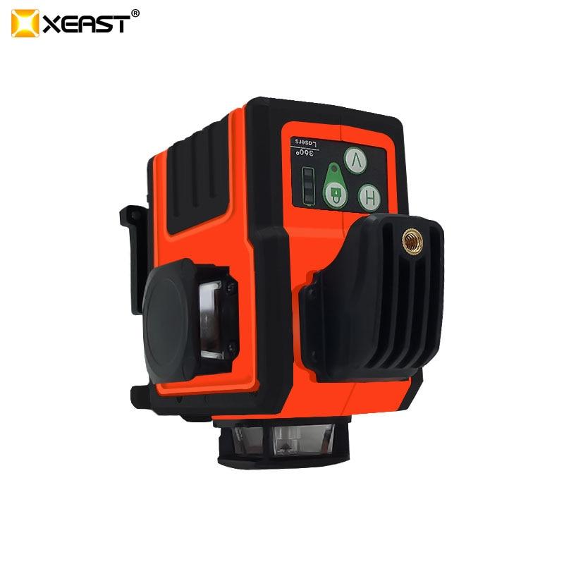 XEAST hohe präzision grünen strahl 12 linien 3D laser ebene Automatische Selbst Nivellierung 360 Vertikale und Horizontale stick wand werkzeug /Stick
