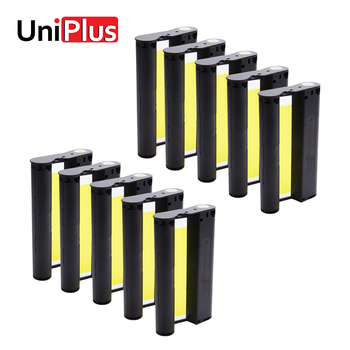 UniPlus 10pcs Color Ink Cartridge Cassette 6 inch Compatible for Canon Selphy CP Series Photo Printer CP1200 CP1300 CP910 CP900 casual canvas handbags portable storage bag men women case for canon selphy cp910 900 1200 digital photo printer