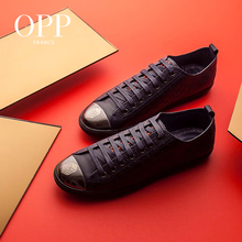 OPP 2017 Fashion Cow Leather Shoes Casual Lace-Up Natural Loafers New Summer Mens For Men