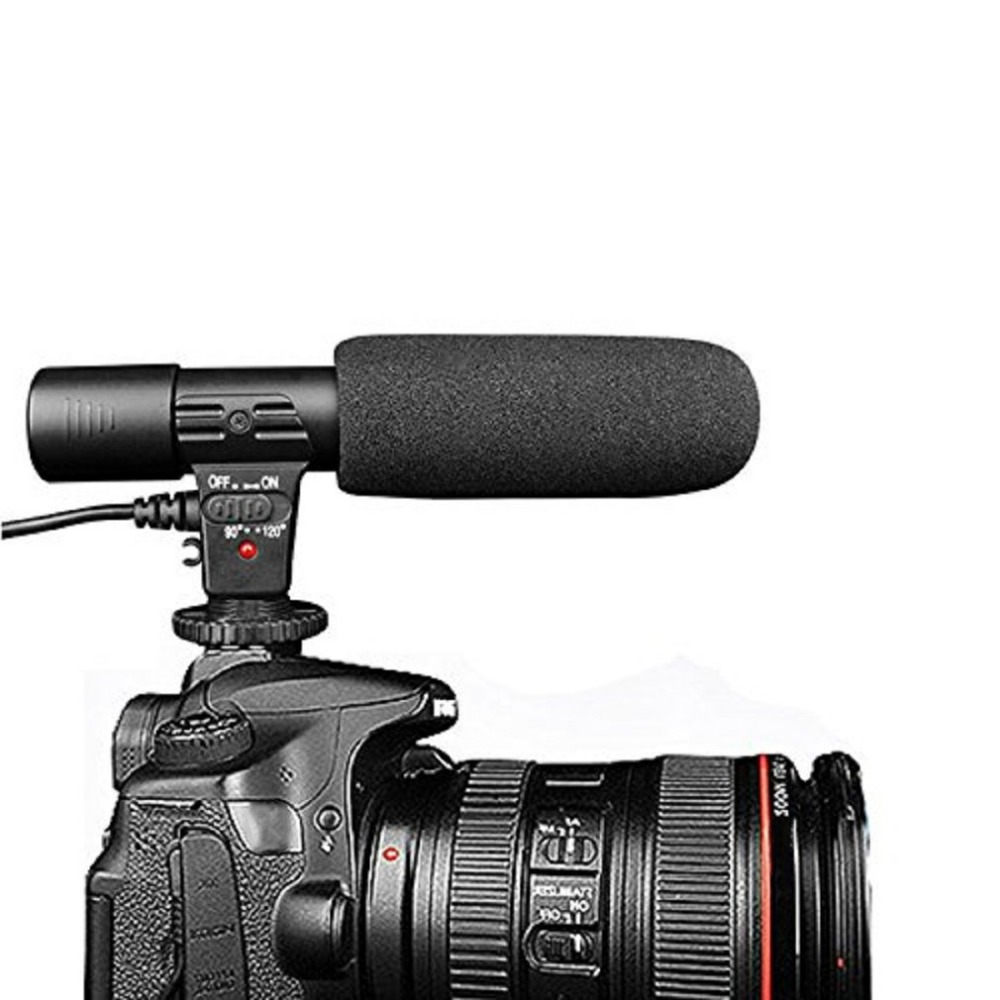 MIC-01 SLR Camera Microphone Photography Video Camera Stereo Recording Microphone For DV Digital SLR Camera Camcorder