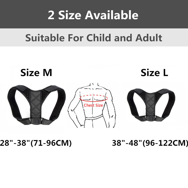 SIELENSON Adjustable Clavicle Posture Corrector Belt for Men and Women to Pull and Straighten Upper Back and to Improve Whole Body Posture 3