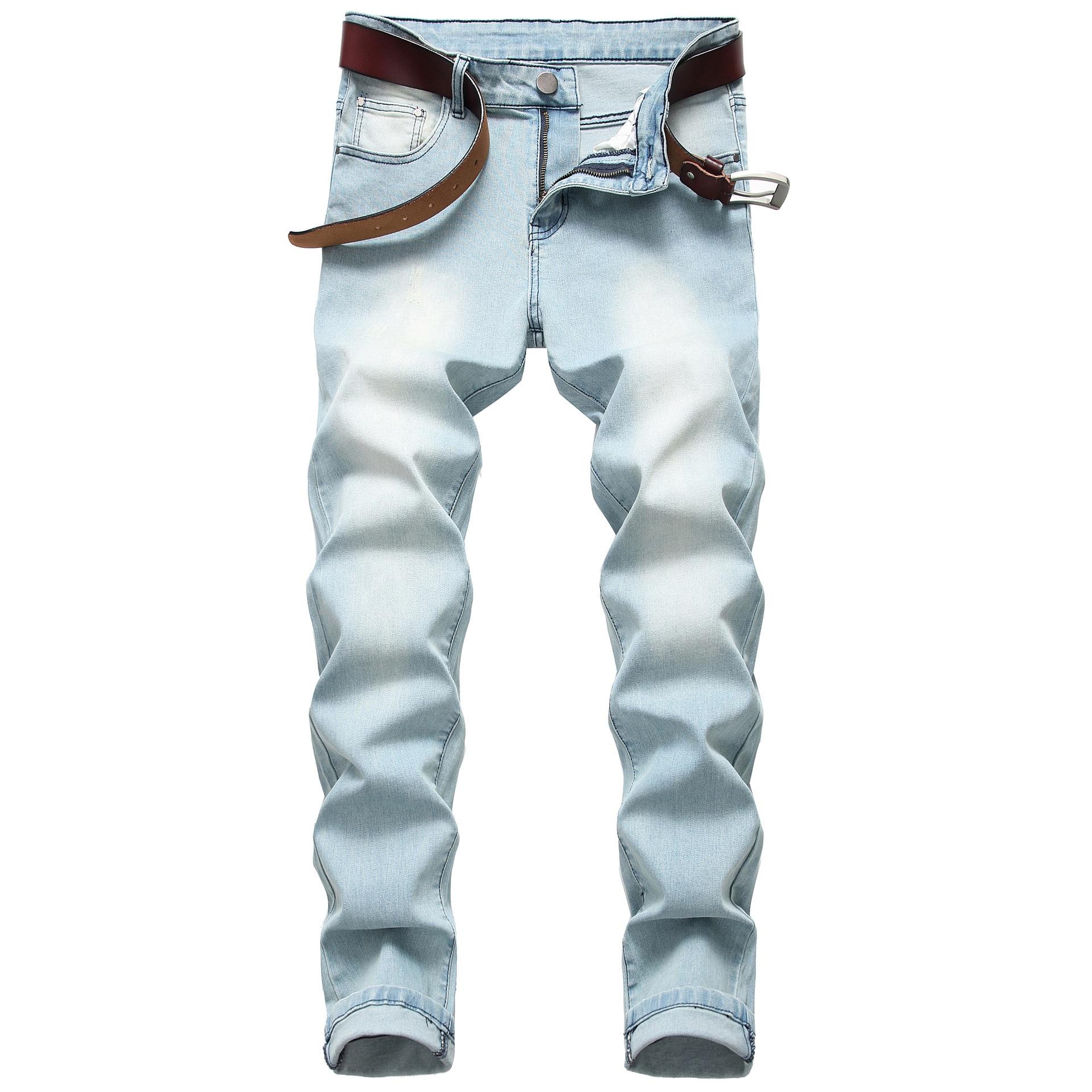 Gersri Men Denim Trousers Slim Retro Jeans Slim Skinny Men Casual Plus Size High Quality Brand Male Jeans Student
