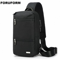 Korea Style Men Oxford Chest Bag Large Capacity Casual Travel Outdoor Sport Crossbody Bag Shoulder Small Chest Pack LI 2624