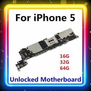 Image 1 - Für Iphone 5 Motherboard Mit Voller Chips 16GB/32GB/64GB Ganze MB Mainboard Mit System logic Board Karte/gebühr Test