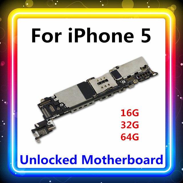 Für Iphone 5 Motherboard Mit Voller Chips 16GB/32GB/64GB Ganze MB Mainboard Mit System logic Board Karte/gebühr Test
