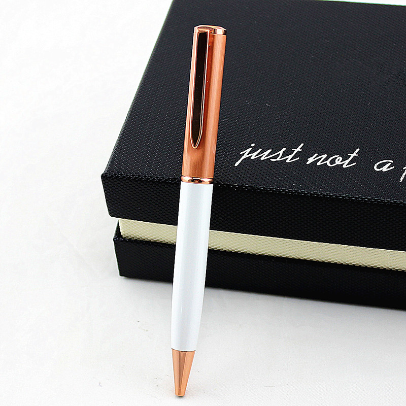 Poslovna kovinska kemična pisala za učenje pisarniškega materiala šolska darilna peresa luksuzna hotelska pisala črna črnilo 0,7 mm Nib