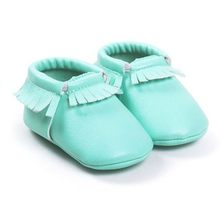 29 Colors Princess Toddler Infant Soft Sole PU Leather Shoes Tassels Baby Various Moccasin(China)