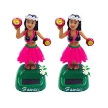 Doll Car Car-Decoration Hawaiian Hula-Girl Ornaments Shaking Solar-Powered Style 1PC