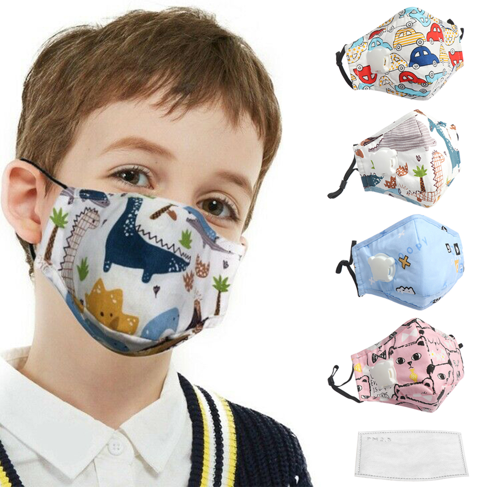 Kids Cartoon Anti-Dust Face Mouth Mask Lovely Breathable Washable Mouth Mask PM2.5 Anti Fog Breathable Respirator Masks