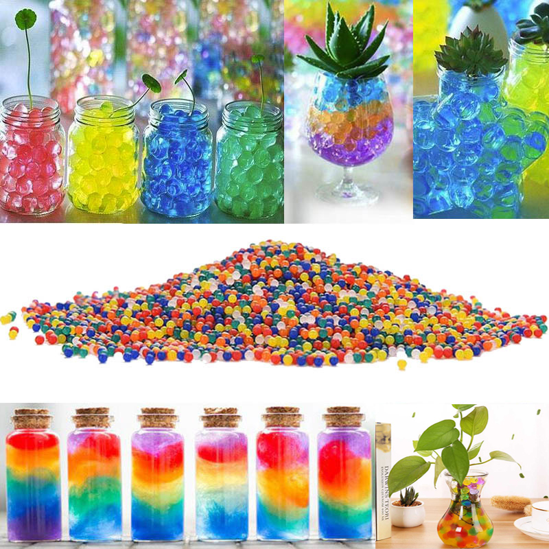 About 100Pcs/lot Shaped Hydrogel Crystal Soil Water Beads Bio Gel Mud Grow Magic Jelly Balls Orbiz For Wedding Home Easter Decor