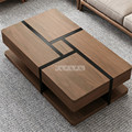 Nordic Simple Tea Table Multifunctional Sofa Side Table With Drawer Larger Organize Storage Space Living Room Home Furniture