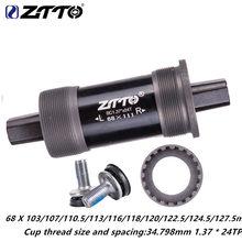 ZTTO suporte inferior 103 107 110.5 113 116 118 120 122.5 124.5 127.5 milímetros ISO bicicleta cone quadrado 68 Britânico rosca BSA BB