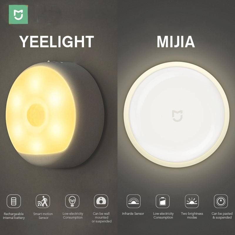 Mijia LED Corridor Night Light Lamp Infrared Remote Control Body Motion Sensor Smart Home | USB Charge Version Option