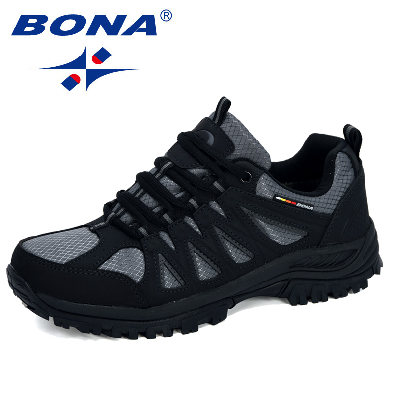 BONA 2020 New Designers Popular Style Men Hiking Shoes Outdoor Sport Shoes Trail Sneakers Man Climbing Athletic Footwear Man