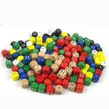 10 шт./партия 16 мм точечные кубики Круглый Coener игральные кости набор деревянный 6 сторонний красочный точечный игральные кости аксессуары для настольной игры