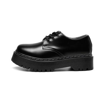 Spring Platform Leather Shoes Women Oxford Shoes Comfortable Sneakers Doc Femmes Chaussures Martens Women's Moccasins cresfimix chaussures pour femmes women cute spring slip on flat shoes with rubber bottom lady casual comfortable street shoes