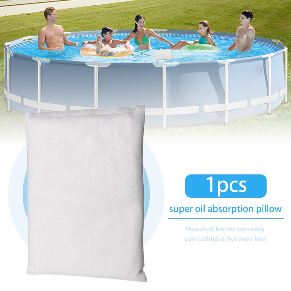 Swimming Pool Super Oil Absorption Pillow Absorb Oil Scum Dirt Bathtub Absorbing Sponge Bath Kitchen Reusable Cleaning Tool