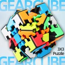 Yumo 3x3 Gear Puzzle Twist Cube 3x3x3 Gear 3*3*3 Professional Game Toys Strange Shape