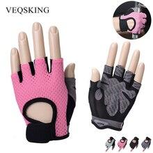 Унисекс противоскользящие тяжелая атлетика перчатки дышащие велосипедные перчатки спортивные тренировочные на полпальца перчатки