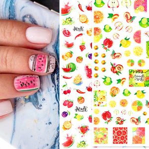 Image 5 - 3D letnie owoce suwak na paznokcie naklejka w kształcie litery naklejki wzór flaminga klej Manicure porady paznokci dekoracje artystyczne CHF554 563