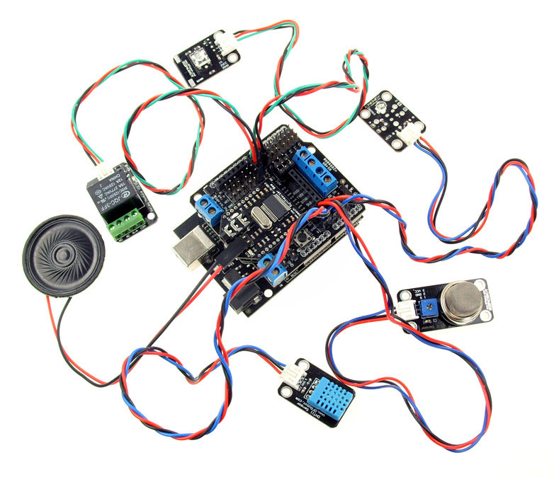 Dfrobot Open Source Arduino Smart Home Speech Recognition Starter Kit 2012 Uno R3