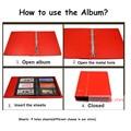 Альбом для международной коллекции 810600  альбом для Коллекции кожаных монет с 9 отверстиями  бумажный кошелек  почтовый штамп  памятная монет...