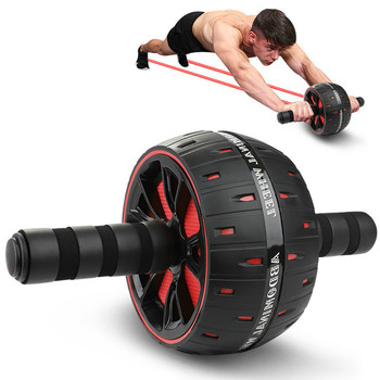 Ab Roller Wheel Abdominal Core Abs Trainer Home Gym Fitness Equipment Men Women Arm Strength Exercise Bodybuilding Machine