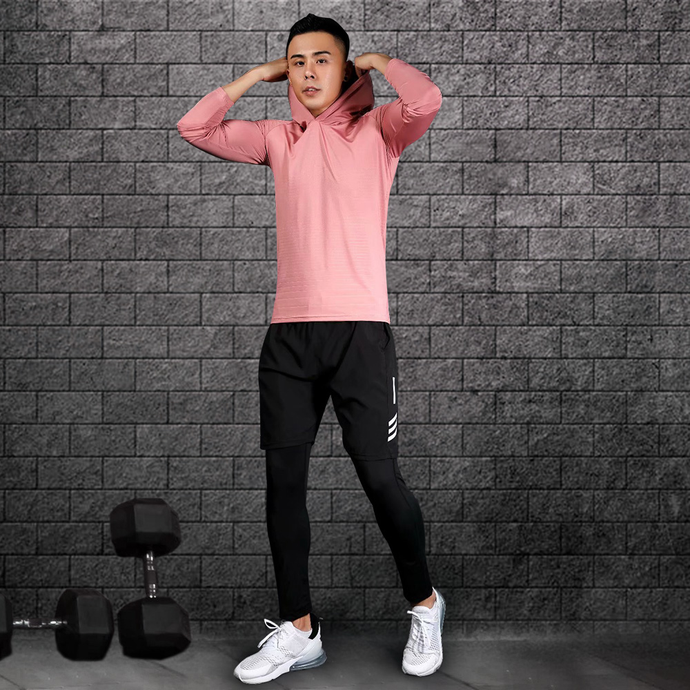 Men's training clothes compression quick-drying sports training clothes gym jogging running clothes tight fitness sportswear