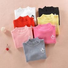 Весенний Детский свитер, пуловер для девочек, базовый детский вязаный свитер для мальчиков, рубашки, весенне-осенний детский топ