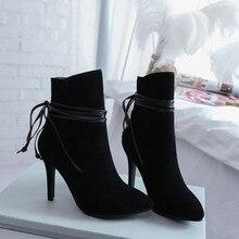 Ботинки больших размеров 9, 10, 11, 12 женская обувь ботильоны для женщин женские ботинки женские зимние ботильоны на шнуровке