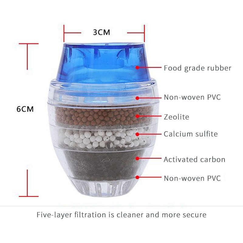 2020 جديد صنبور المطبخ جهاز تنقية مياه الصنبور لتنقية المنزلية فلتر الكربون المنشط 5 طبقات تنقية صنبور الترشيح