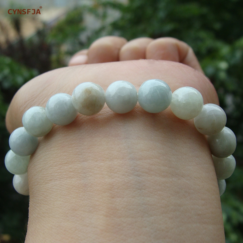 CYNSFJA Real Certified Natural Grade A Burmese Jadeite Women' Charms Amulets Bead Jade Bracelet Bangle Fine Jewelry Best Gifts