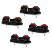 4pcs/set Durable Fast Entry Boat Ball Bearing Cam Cleat - Black