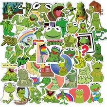 50PCS Frog Kermit adesivi per cartoni animati Laptop chitarra bagagli frigo Skateboard impermeabile Graffiti Sticker Decal Kid giocattolo classico