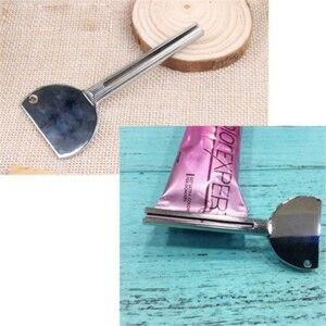 Rura metalowa ze stali nierdzewnej pasta do zębów wyciskacz Tube łazienka farba do włosów dozownik kosmetyczny do ubikacji