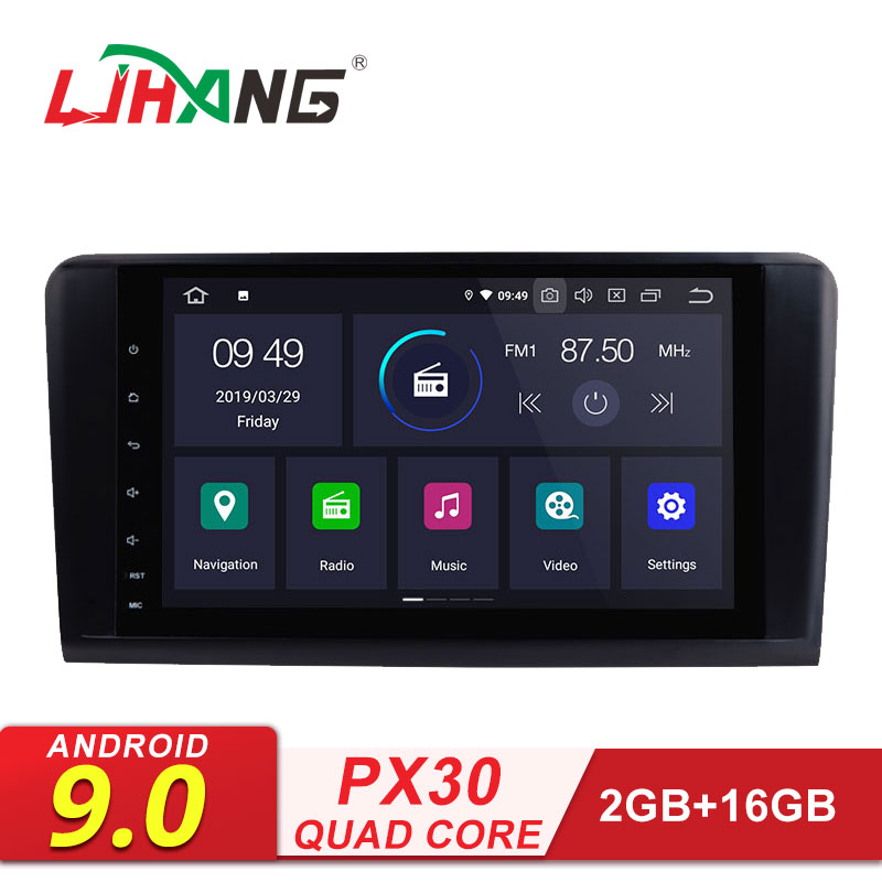 LJHANG Car DVD Multimedia Player Android 9.0 For <font><b>Mercedes</b></font> Benz <font><b>ML</b></font>/GL CLASS W164 ML350 ML500 GPS WIFI 2 Din Car Radio Stereo Auto image