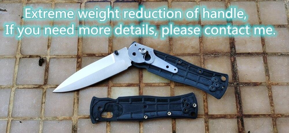 Tools : JUFULE Made 530 530BK Grivory fiber handle Mark 154cm Blade folding Pocket Survival EDC Tool camping hunt Utility outdoor knife