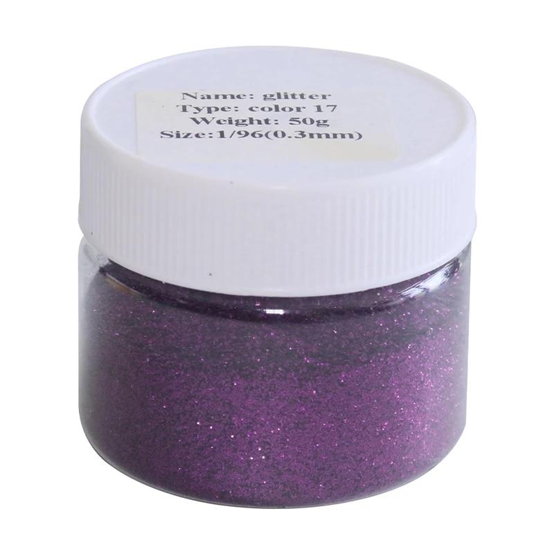 Glitter Purple Pw International 4 Tubes de paillettes en poudre