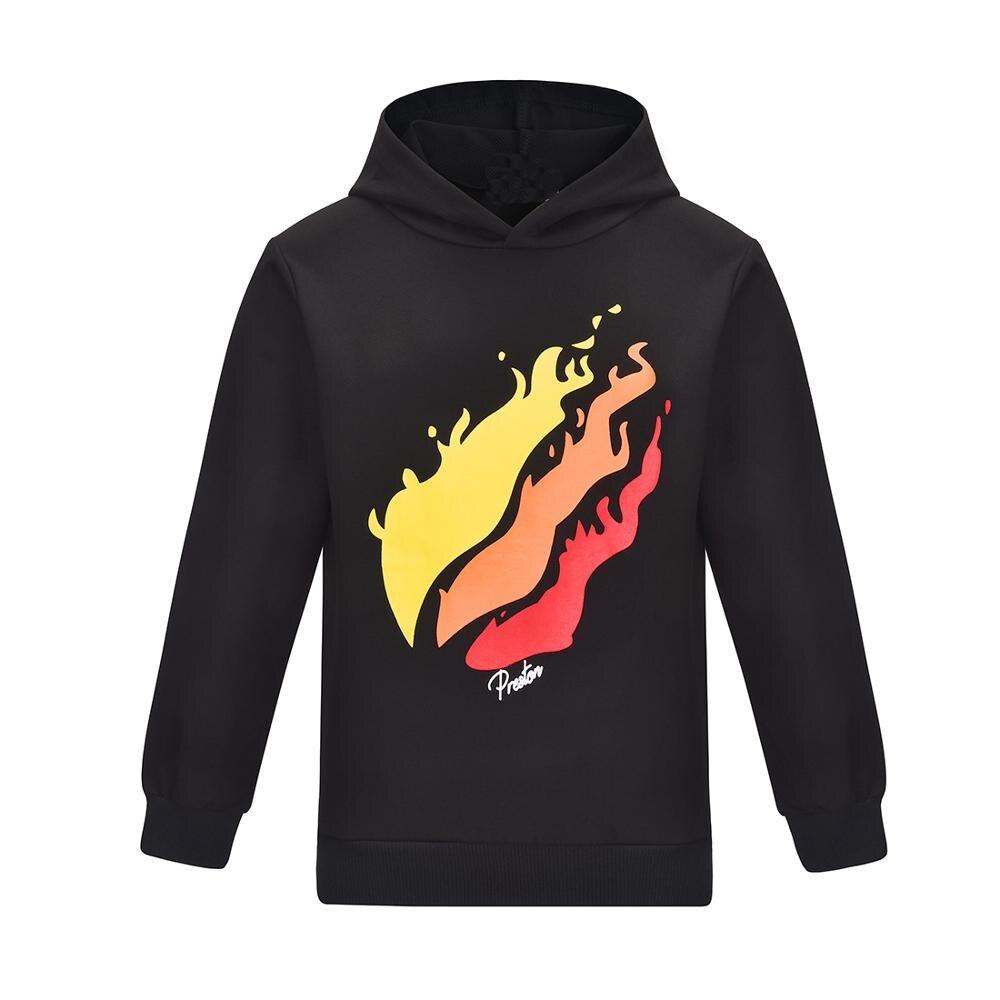 2019 Brand PRESTONPLAYZ Black Sweatshirts For Teenage Girls Boys Preston Playz Long Sleeve T Shirt Hoodies Hip-hop Tops Clothes