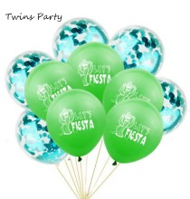 Twins Party FIESTA Letter Balloons Cactus Banner ALOHA Mexican Decorations Taco Lets Fiesta Ballon