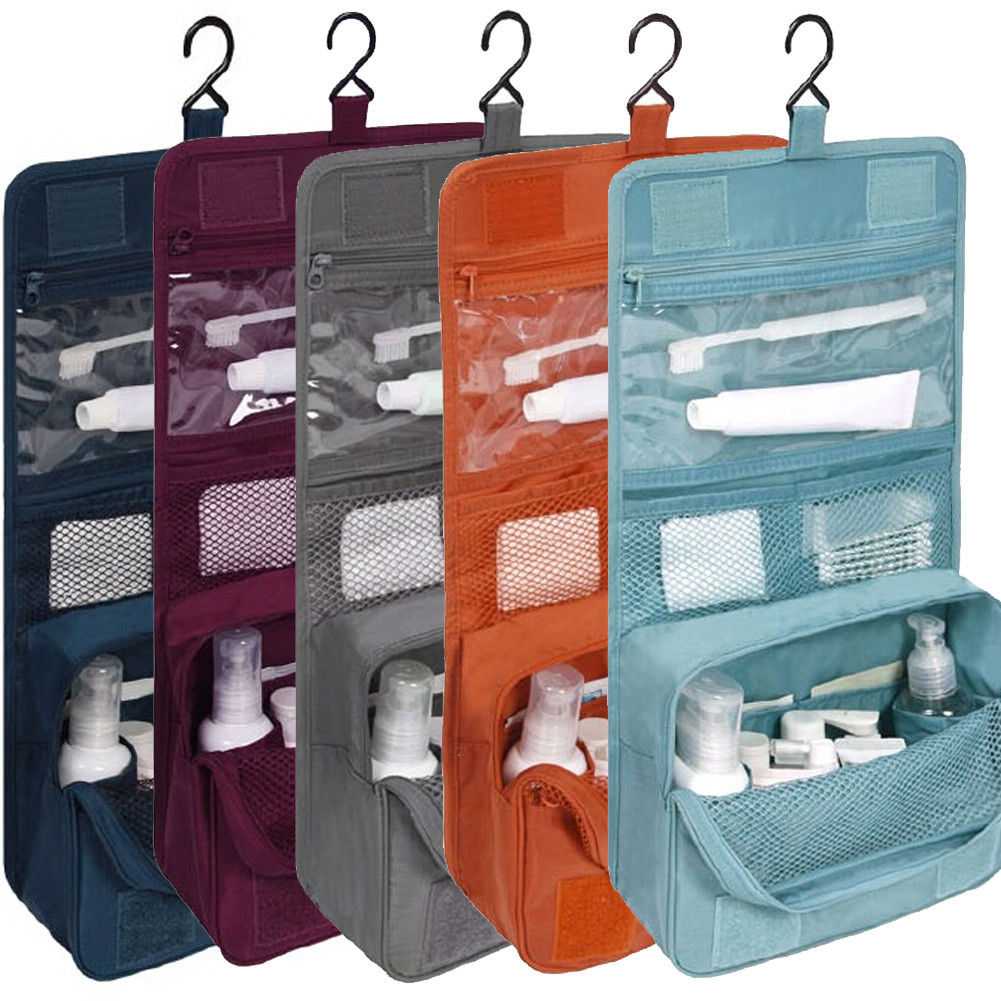 2019 New Fashion Men Women Travel Cosmetic Storage MakeUp Bag Folding Hanging Toiletry Wash Organizer Pouch Portable Cases